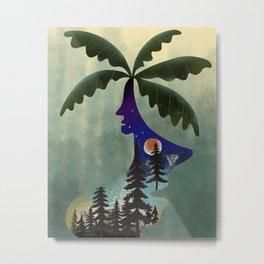 Abstract woman head tree Metal Print