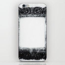   a frame of nothing - or the mirroring of unborn thoughts   iPhone Skin