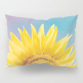 Sunflower Power - Retro Nature Photography Pillow Sham
