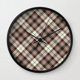 Scottish tartan #20 Wall Clock