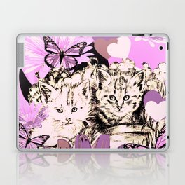 Frieda's Baby Cats in Pink Laptop & iPad Skin