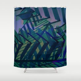 Gazebo Shade [blue] Shower Curtain