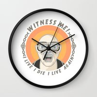 mad max Wall Clocks featuring MAD MAX - WITNESS ME! by M. Gulin
