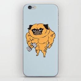 Buff Pug iPhone Skin