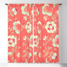 coral adrienne Blackout Curtain