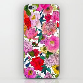 Peonies & Roses iPhone Skin