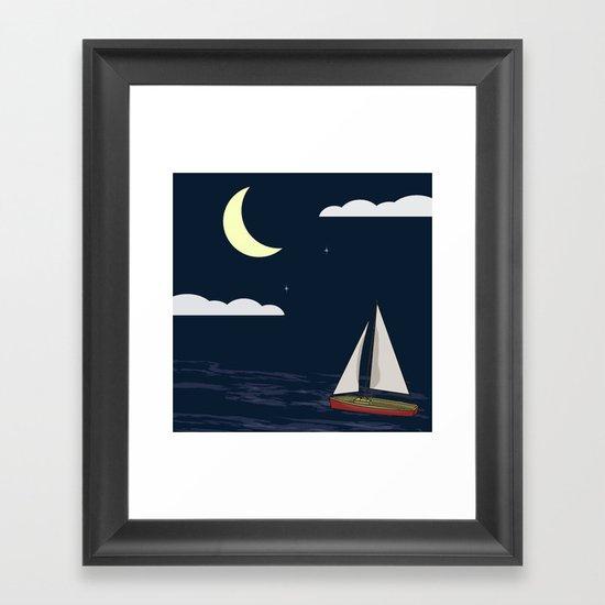 Chasing the Moon Framed Art Print