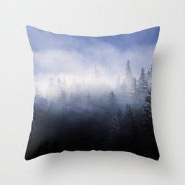 Mist in the Trees of Alaska Throw Pillow