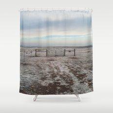 Snowy Gate Shower Curtain