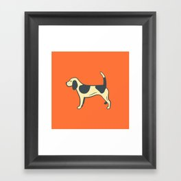 Orange Beagle Framed Art Print