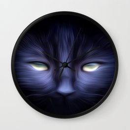 VioletCat Wall Clock