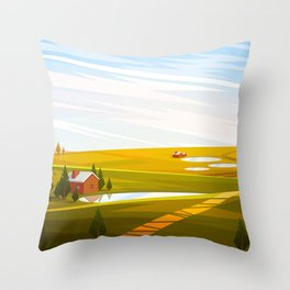 Feeling Autumn Throw Pillow