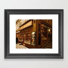 Paris Bookstore Framed Art Print