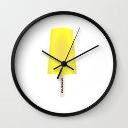Lemon popsicle Wall Clock