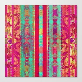Moroccan Magenta and Turquoise Canvas Print