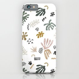 Abstract simple nature shapes iPhone Case