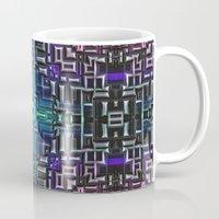 sci fi Mugs featuring Sci Fi Metallic Shell by Phil Perkins
