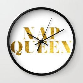 Nap Queen Gold Wall Clock