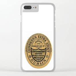 Vintage Guinness Extra Stou Label Clear iPhone Case