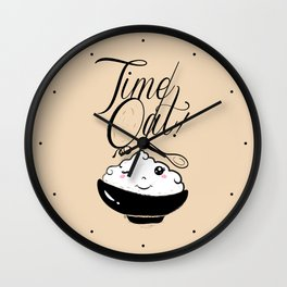 Time Oat - Funny Kawaii Oatmeal Wall Clock