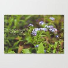 wild + free. Canvas Print