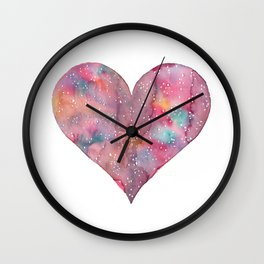 cosmic heart Wall Clock