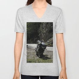 excursion by motorcycle Unisex V-Neck