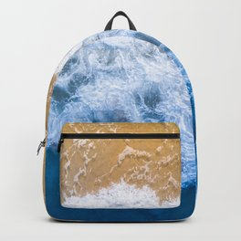 Ocean blue sand brown Backpack