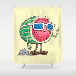 Watermelon Skater Shower Curtain