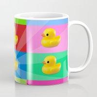 duck Mugs featuring duck by mark ashkenazi