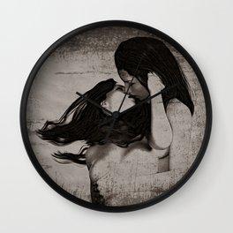 Lesbians B&W Sepia Wall Clock