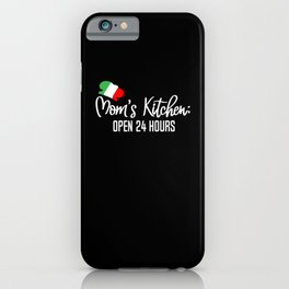 Mom Kitchen gift Cook Italy iPhone Case
