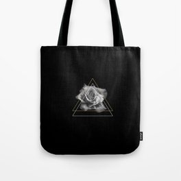 Rose Black and White Tote Bag