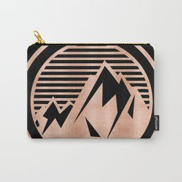 THE MOUNTAIN Rose Gold Carry-All Pouch