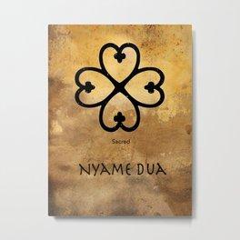Adinkra Nyame Dua Metal Print
