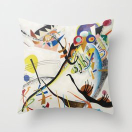 Blue Segment, Abstract, Wassily Kandinsky, 1921 Throw Pillow