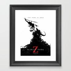 World Park Z Framed Art Print