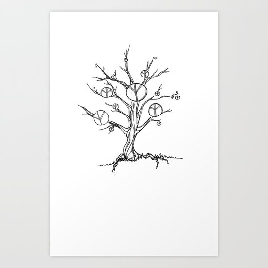 Peace Tree Art Print