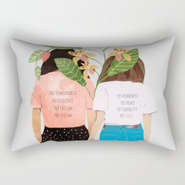 Motto #illustration #concept #painting Rectangular Pillow
