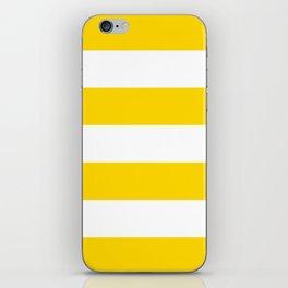 Sunshine Yellow and White Stripes iPhone Skin