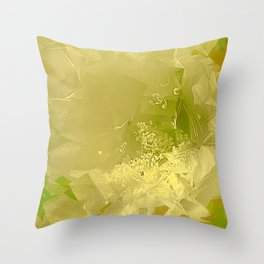 Cactus Orchid Light Green Cubist Throw Pillow