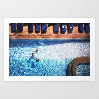 pool Art Prints featuring pool by kolya korzh