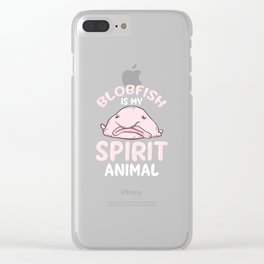 Blobfish Is My Spirit Animal. - Gift Clear iPhone Case