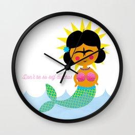 Don't be so self conchas Wall Clock