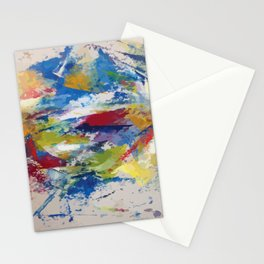 Abstract Oils Stationery Cards