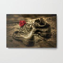 Shoes On The Danube Bank Art Metal Print