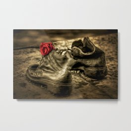 Shoes On The Danube Bank Art Metal Print