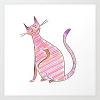 Snazzy Cat Art Print