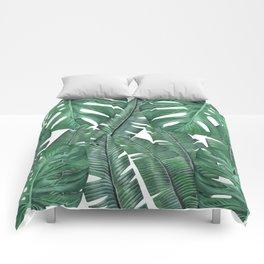 Tropical Leaves Art Print Comforters