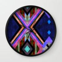 tarot Wall Clocks featuring Tarot 1B by Schatzi Brown